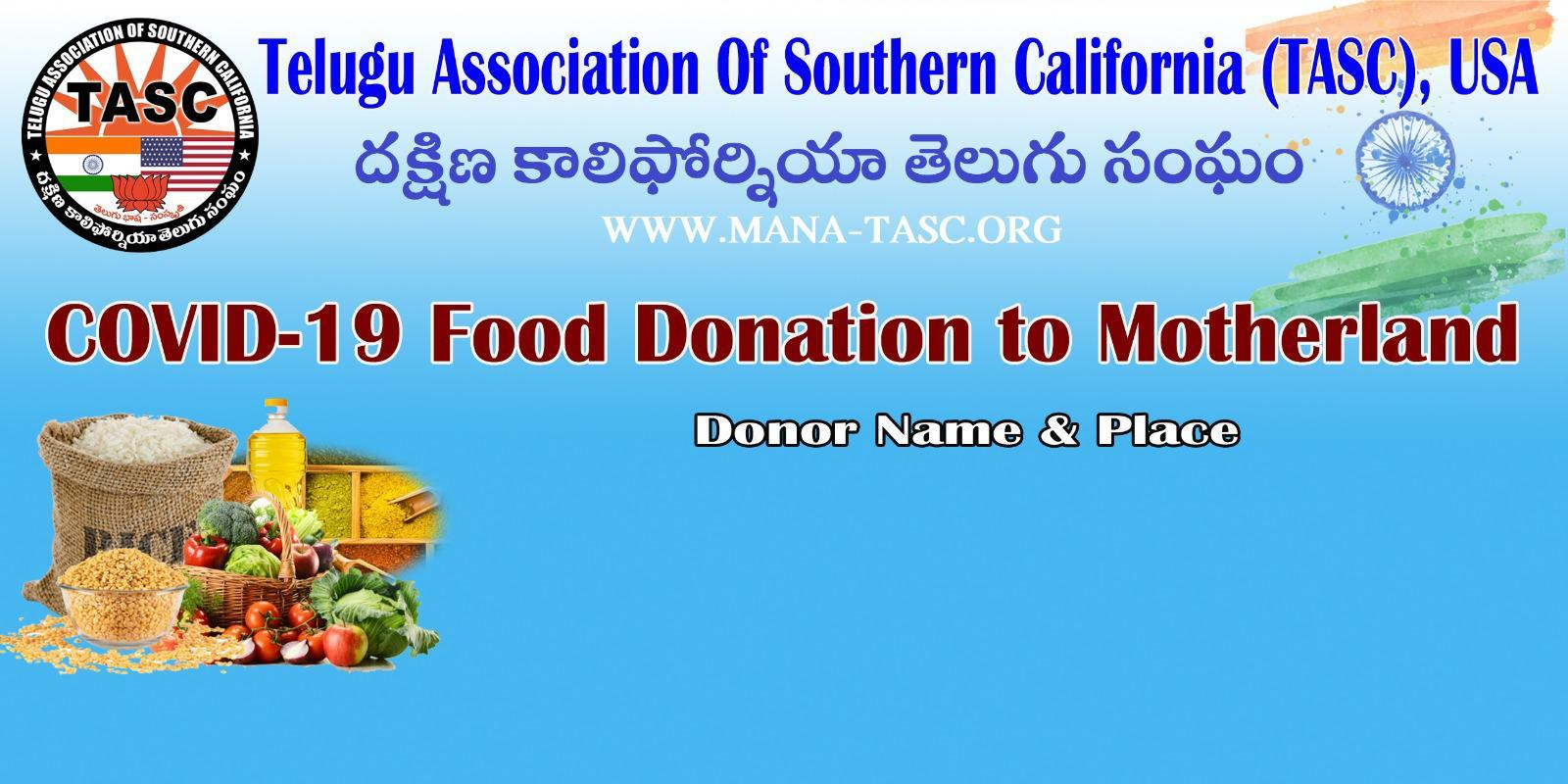 TASC MOTHERLAND FOOD DONATION