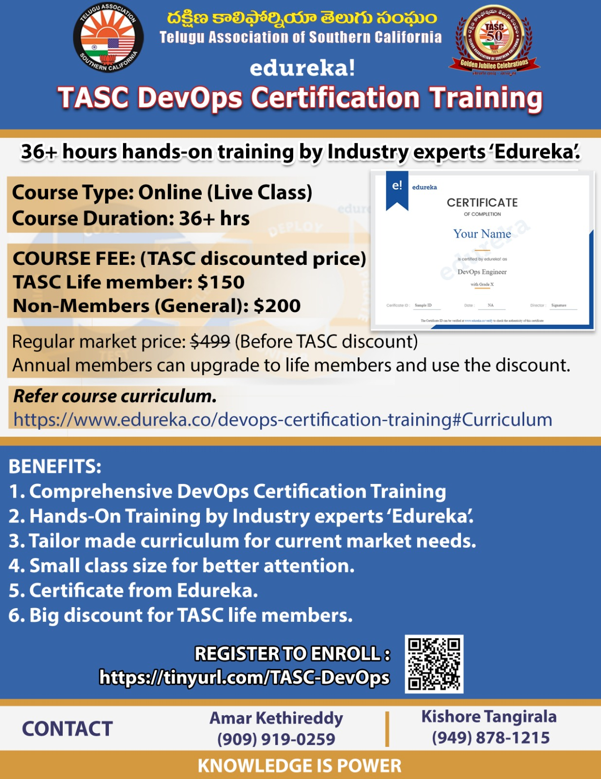 TASC CAREER ADVANCEMENT PROGRAM CERTIFIED DevOps Online Training