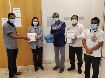 MASk DONATION TO LOCAL COMMUNITY